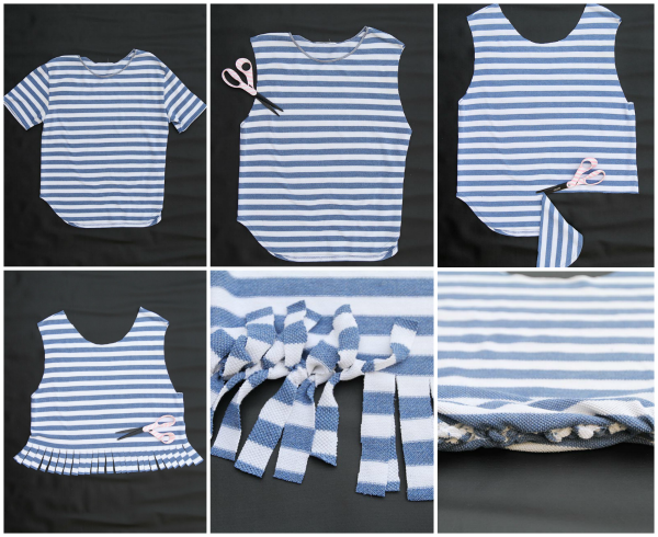 DIY bolso camiseta collage