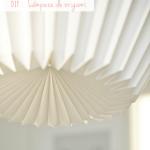 DIY: Lámpara de origami / Origami lamp