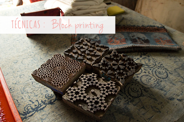 Glosario block printing