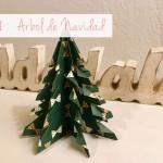 Decoración de navidad: árboles de papel / Xmas decoration: paper trees