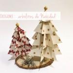 Decoración de navidad: árboles de papel (2)/ Xmas decoration: paper trees (2)