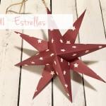 Decoración de Navidad: estrellas de papel / Xmas decoration: paper stars