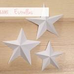 Decoración de Navidad: estrellas de papel (2) / Xmas decoration: paper stars (2)
