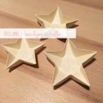 Decoración de Navidad: bandejas estrella / Xmas decoration: star bowls